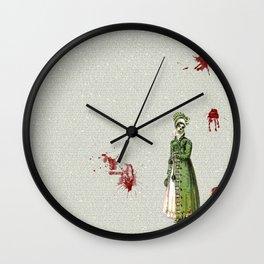 Pride & Prejudice - Zombified Wall Clock