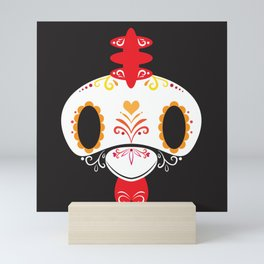 Day of the Dead Rooster Block Mini Art Print