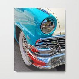 Turquoise and Cream Dream by Teresa Thompson Metal Print