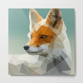 Polygon Fox Metal Print