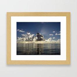 CLOUD PLAY AT SEA Framed Art Print