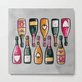 99 Bottles of Champagne on the Wall Metal Print
