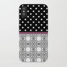 A combined decorative pattern . iPhone Case