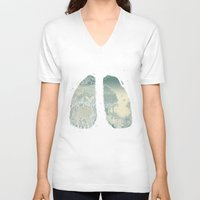 lungs V-neck T-shirts featuring Lungs by Herds of Birds