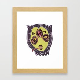 Gastric bypass DEMON face Framed Art Print