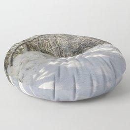 Covered in White Floor Pillow