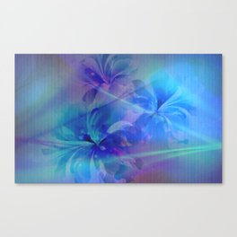 Soft  Colored Floral Lights Beams Abstract Canvas Print