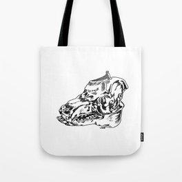 Pig Skull Tote Bag
