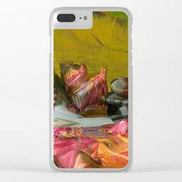 Futuristic 3d Sci-Fi Landscape Digital Art Clear iPhone Case