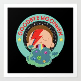 Goodbye Moonmen Art Print