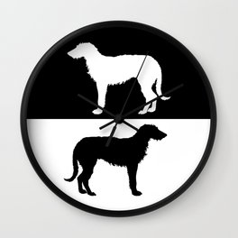 Deerhound Wall Clock