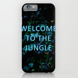 Welcome to the Jungle - Neon Typography iPhone Case