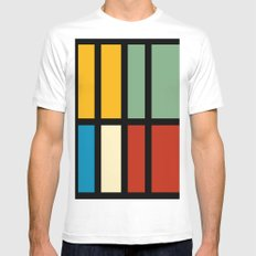 Abstract composition 23 White MEDIUM Mens Fitted Tee
