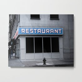 The [Seinfeld] Diner Metal Print