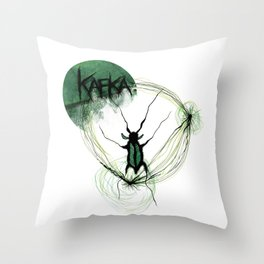 Kafka Hommage Throw Pillow