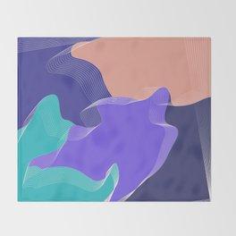 """Spring mood"" minimal art Throw Blanket"