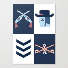 Cowboy vs Apache Canvas Print