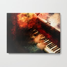 Piano Player Metal Print
