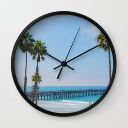 Sunny California Beaches Wall Clock
