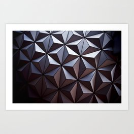Disney Epcot Texture Pattern Awesome Art Print