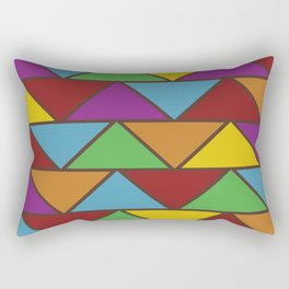 Colorful Triangle V(Ranging Tribuj Pach) Rectangular Pillow