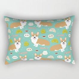 Corgi dim sum kawaii food welsh corgis cute dog pure breed must have gifts Rectangular Pillow