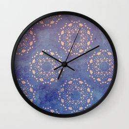 Vintage Bloom Wall Clock