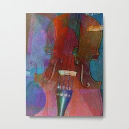 Violin Abstract Two Metal Print