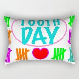 100 days smarter Rectangular Pillow