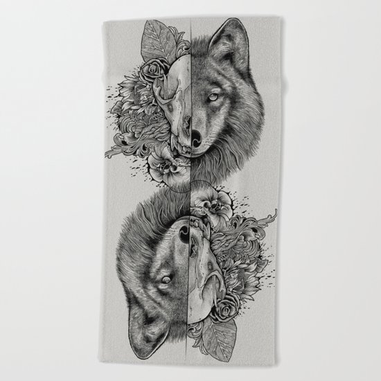 New Wolf (Half Life) Beach Towel