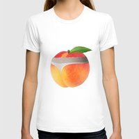 booty T-shirts featuring Peach booty by Jecca All
