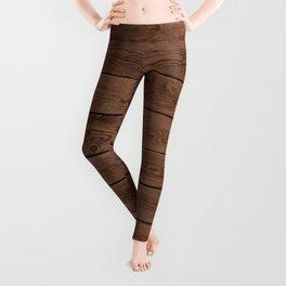 Reclaimed Floorboards Wood Pattern Leggings