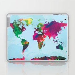 Watercolor World Map Laptop & iPad Skin