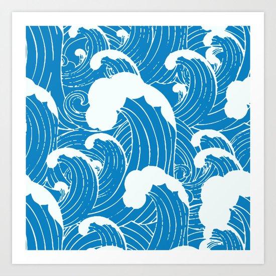 waves after waves Art Print