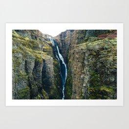 Glymur Waterfall, Iceland Art Print