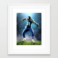 seahawks Framed Art Prints featuring SEAHAWKS POWER by THEMAD3