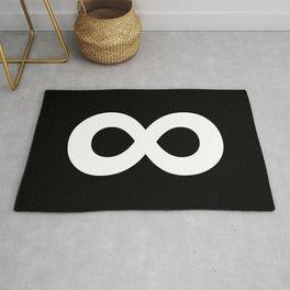 Infinity Symbol (White & Black) Rug