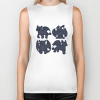 toothless Biker Tanks featuring Toothless  by Magen Works