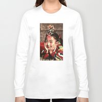 korean Long Sleeve T-shirts featuring Korean Dancing Girls II by Robert S. Lee Art
