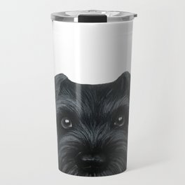 Black Schnauzer, Dog illustration original painting print Travel Mug
