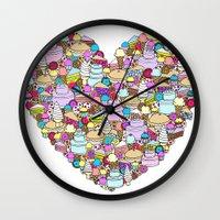 dessert Wall Clocks featuring Dessert by Julia Emiliani