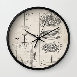Coffee Filter Patent - Coffee Shop Art - Antique Wall Clock