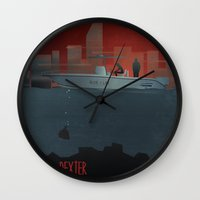 dexter Wall Clocks featuring DEXTER by ketizoloto
