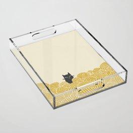 Cat and Yarn Acrylic Tray