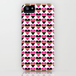 Sweethearts pink #hatetolove iPhone Case