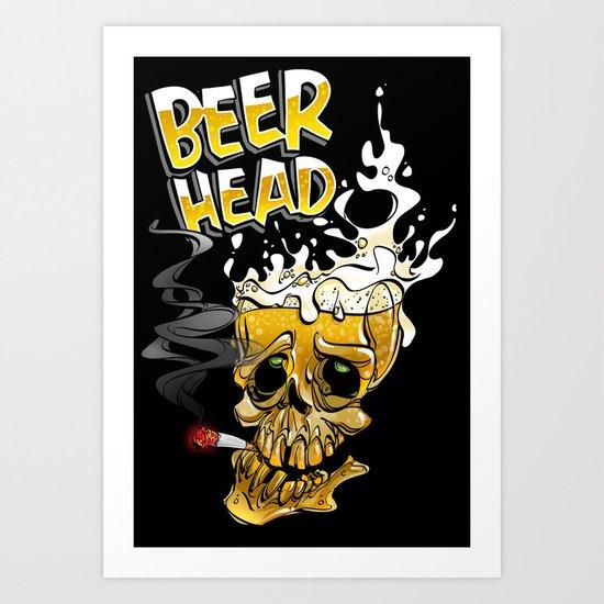 beer head Art Print