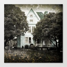 Haunted Hauntings Series - House Number 3 Canvas Print