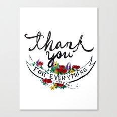 Merci Canvas Print