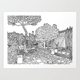 Snapshot in Collioure, France Art Print