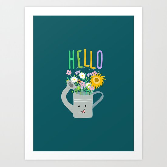 Happy Day- Watering Can Art Print